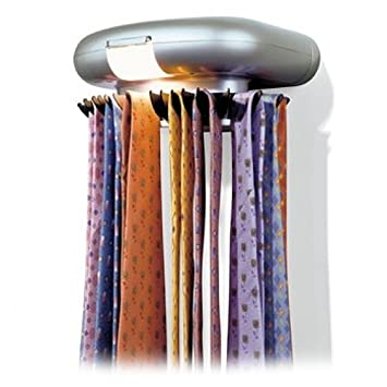 Amazon.com: Perfect Solutions Tie-Tracker Revolving Tie Rack: Home ...
