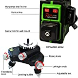A.B Crew 12 Lines 360°3D Self Leveling Laser Level Green Beam Horizontal/Vertical Cross Line Straight/Tilt Line Rechargeable 1 Vertical and 2 Horizontal 360 Degree Lines with Fine Tuning Rotary Base