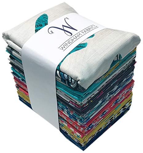Carrie Bloomston Wonder Fat Quarter Bundle 28 FQs + Panel Precut Cotton Fabric Quilting FQs Assortment Windham by Windham Fabrics