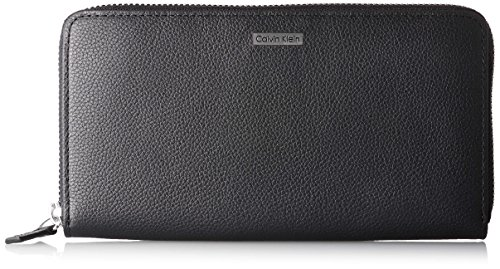 Calvin Klein Men's Leather Zipper Around Wallet Black 79441 by Calvin Klein