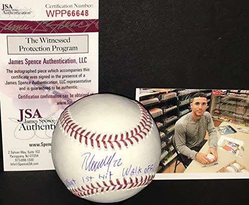 Ramon Laureano Oakland A's Autographed Signed Official Major League Baseball JSA WITNESS COA MLB DEBUT 1st Hit Walk-off 8.3.18