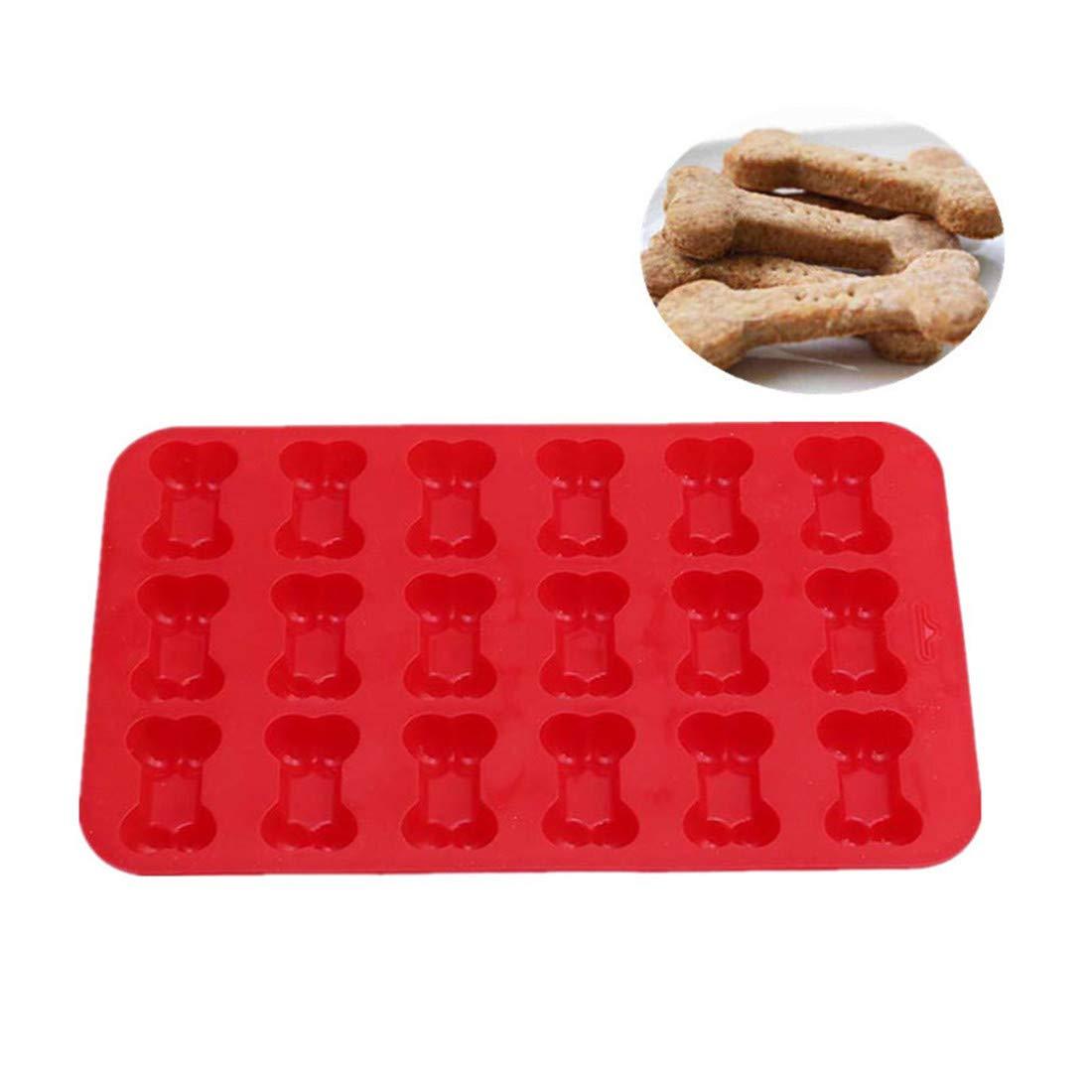Yingwei 18 Hohlraum Creative Keks Kuchenform Hund Knochen Silikon Backmatte Backen W/üsten Muffins Cookies