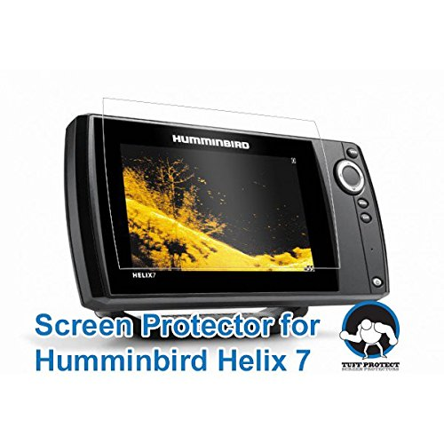 Crystal Helix (Tuff Protect Crystal Clear Screen Protectors for Humminbird Helix 7 Fish Finder)
