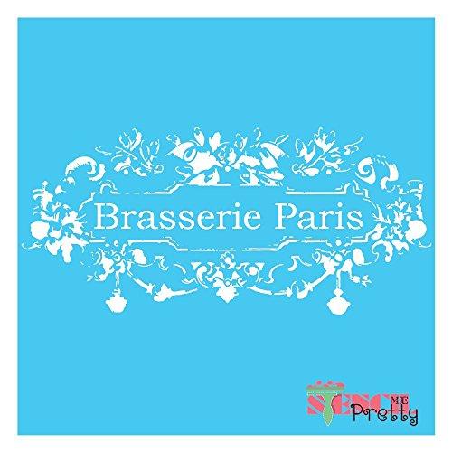 Chic French Restaurant Furniture Stencil - Brasserie Paris DIY Sign - S (11