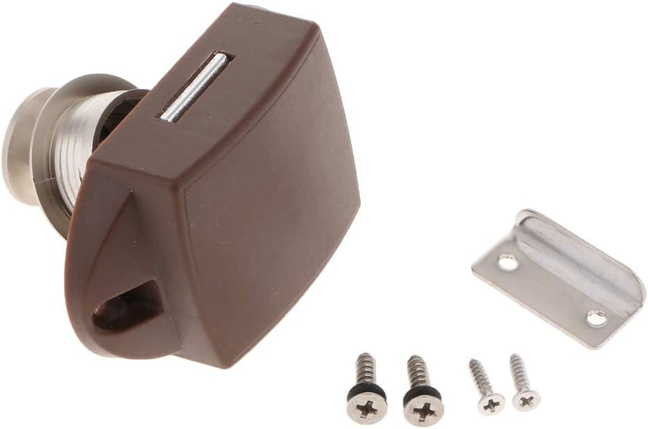 Nickel Plated D DOLITY Pack of 20 Key Less Push Button Cabinet Latch for RV//Boat//Motor Home//Caravan