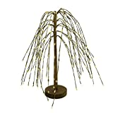 CVHOMEDECO. Cream Pip Berry Weeping Willow Tree Country Vintage Decoration Art, 14-Inch