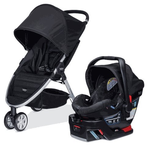 Britax 2015 B Agile 3 & B Safe 35 Travel System, Black