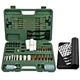 IUNIO Universal Gun Cleaning Kit Supplies with Gun Cleaning Mat Rifle Pistol Handgun Shotgun Brushes Patches Bottles...