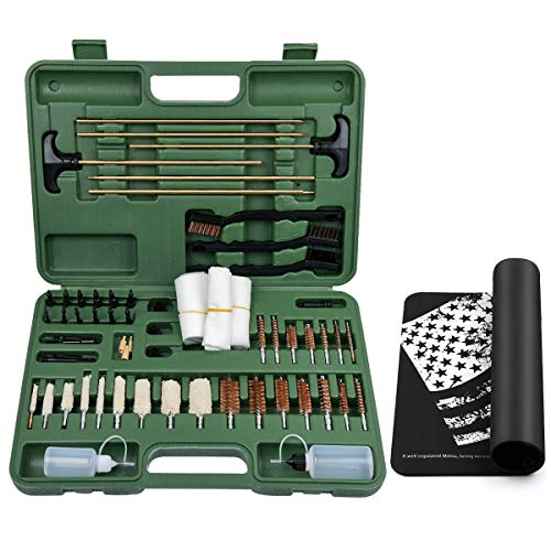 iunio Universal Gun Cleaning Kit with Mat Carrying Case for