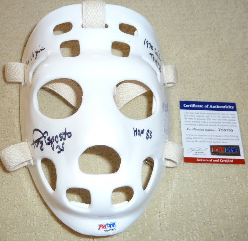 PSA/DNA Tony Esposito 3 Inscriptions Autographed Signed Replica Goalie Mask