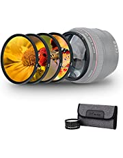 40.5mm Macro Close-Up Filter Set (+2 +4 +8 +10) Macro Filter Accessory with Lens Filter Pouch for Sony A6400 A6300 A6100 A6000 with 16-50mm f/3.5-5.6 Lens or Sony A7C with FE 28-60mm f/4-5.6 Lens