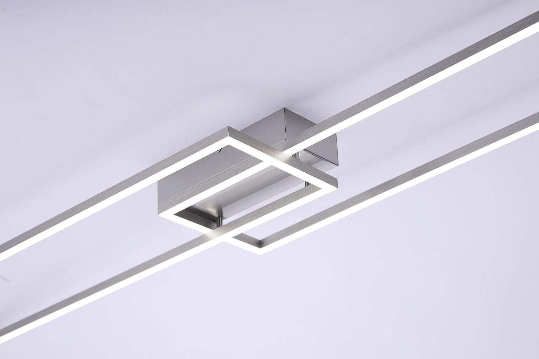 IVEN Leuchten Direkt Deckenleuchte stahl 2xLED-Board 20W 2700-5000K Innenleucht
