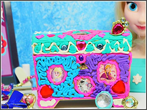How To Make Doh Vinci Elsa And Anna Jewelry Box