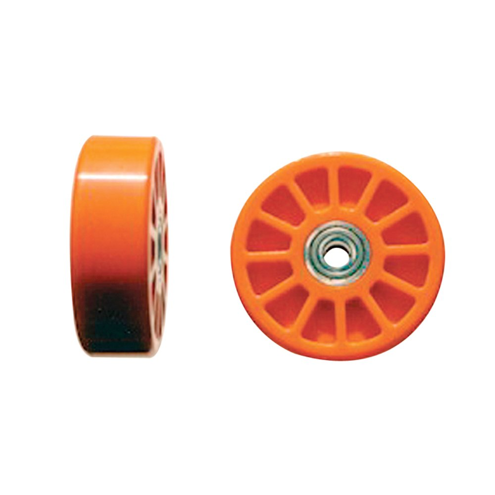 Chassis Engineering WEZ1001 3/8'' Hole Orange Wheelie Bar Wheel - 2 Piece