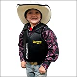 SADDLE BARN WESTERN MUTTON BUSTIN FAUX LEATHER PROTECTIVE VEST W/BLACK