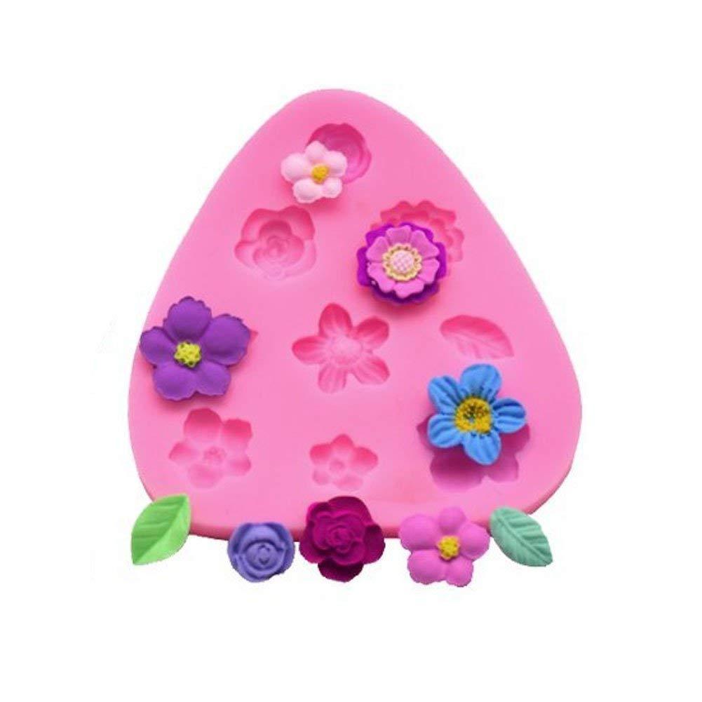 Moules en silicone Mini Fleur roses Fleur de marguerite Moules pour Jelly Sucre Candy Chocolat Fondant D/écoration de g/âteaux mciskin Fleur g/âteau Fondant Moules lot de 3