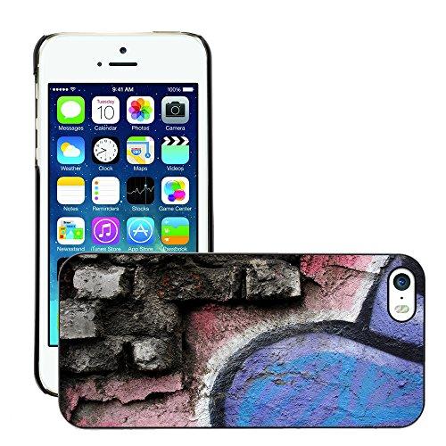 Premio Sottile Slim Cassa Custodia Case Cover Shell // V00002256 Graffiti wall // Apple iPhone 5 5S 5G