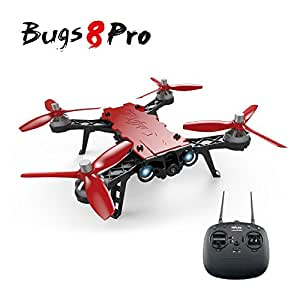ElementDigital MJX Bugs 8 Pro Drone FPV RC Racing Quadcopter B8PRO 2.4G 6-axis Gyro 4CH 3D Flips Angle/Acro Mode Switch High Speed RC Drone with 5.8G FPV Camera, D43 4.3 LCD RX Display, FPV Goggles