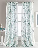 DKNY Landscape Textured Sheer Window Curtain Panel Pair