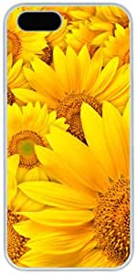 iPhone 4 4S Cases Hard Shell White Cover Skin Cases, iPhone 4 4S Case Flower Sunflower Field