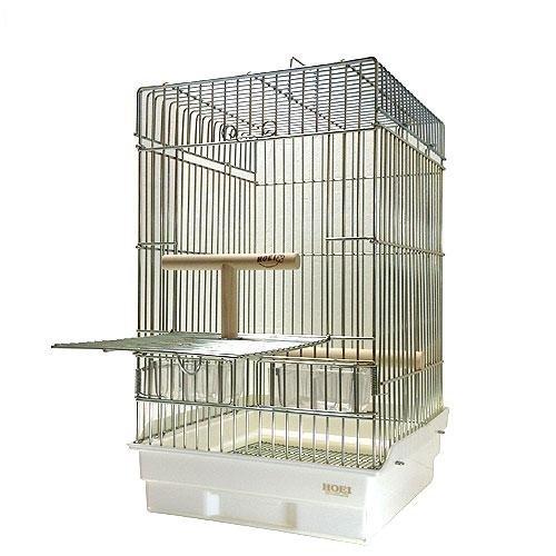 ホーエイ 鳥かご 35オウム ホワイト B006V0PAMQ