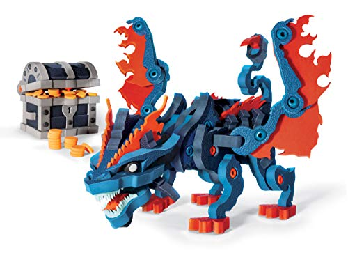 - Bloco Toys Treasure Keeper Dragon | STEM Toy | DIY Building Construction Set (240 Pieces)