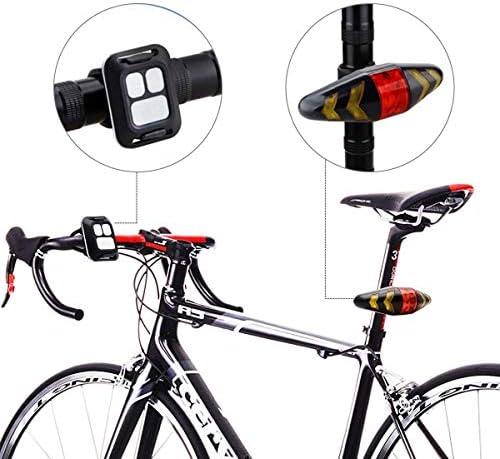 MASO Feu arrière de vélo LED Clignotants avec télécommande sans Fil Rechargeable Multifonction Modes Étanche pour VTT Vélo de Route
