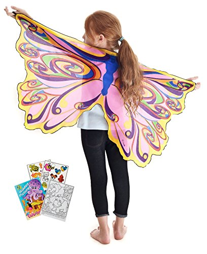 Douglas Toys Dreamy Dress-Ups 50585 Rainbow Fairy Wings with Coloring Book (Rainbow Fairy Costume)
