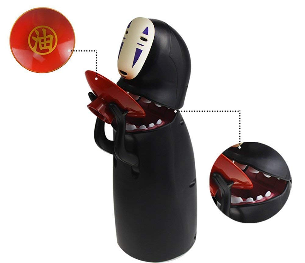 WD-40 Toy Banks,Music Spirited Away No Face Man Coin Bank Automatic Eat Coin Piggy Bank