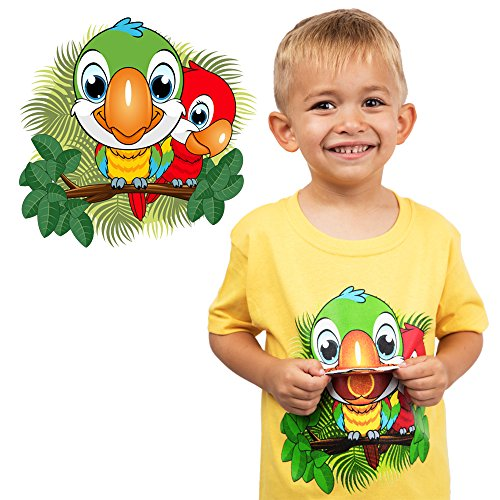 Kids Parrot T-Shirt for Boys and Girls Birds Tee (Flap Mouth) Size 5 ()