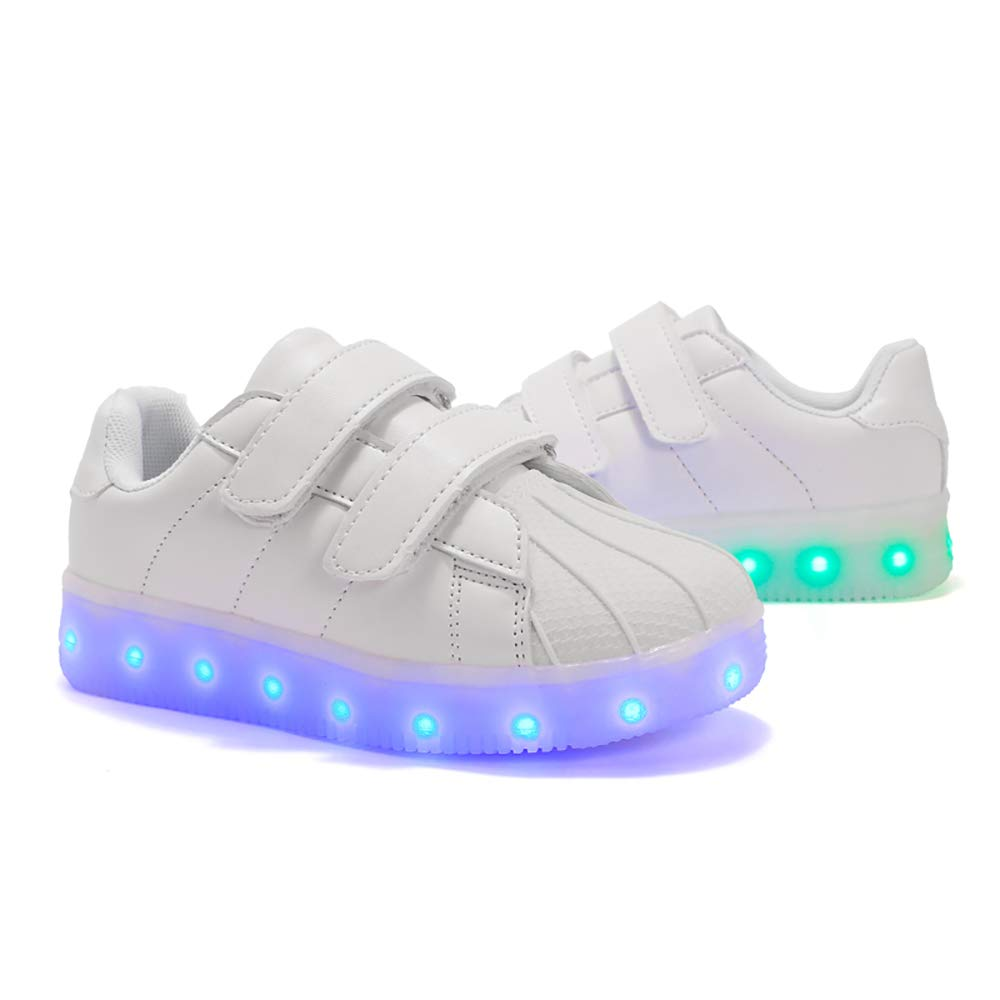 Gar/çon Fille LED Chaussures,7 Couleurs Lumineuse Clignotant USB Rechargeable Shoes Sneaker,de Sports D/écontract/ée Disco F/ête Baskets pour,Danse de Rue Danse fantomatique,Chaussures Montantes
