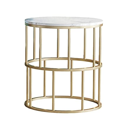 Kuku Coffee Table Round White Marble Coffee Table Side Table