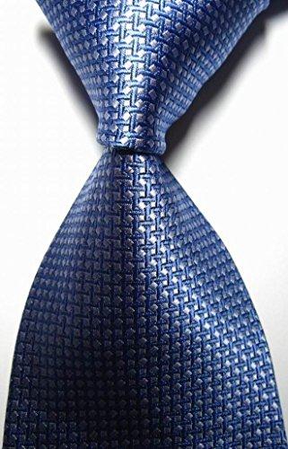 Scotch Collection® Modern Ties New Classic Patterns Blue Silver 100% Silk Men's Necktie