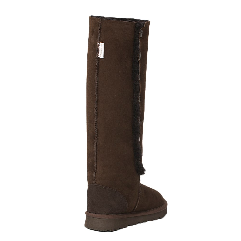7e77aed0844 Celtic   Co Womens British Sheepskin Popper Detail Knee Height Boots   Amazon.co.uk  Shoes   Bags