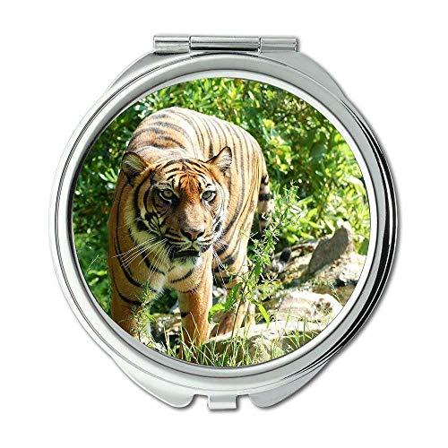 Mirror,makeup mirror,animal big cat sumatran tiger,pocket mirror,portable mirror