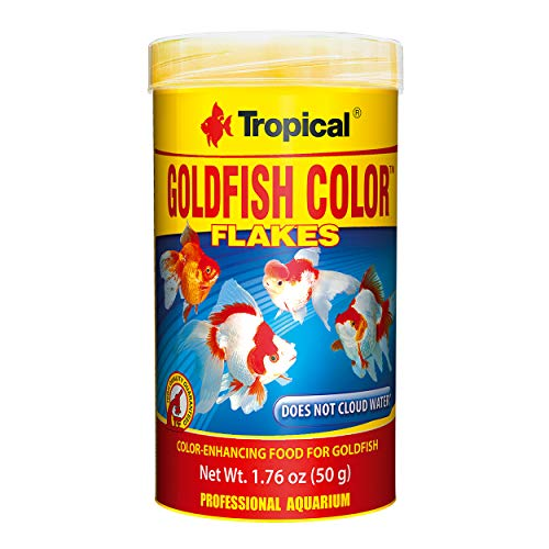 Tropical USA Goldfish Color Flakes Fish Food Tin, 50g