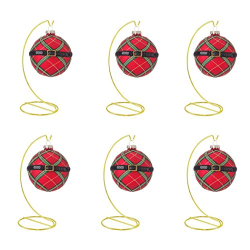 HOHIYA Ornament Display Stand Holder Hook Hanger Christmas Ball Bauble Dog Cat Glass Photo Personalized Diy Art Craft Home Party Birthday Decorations jewelry 8inch(Gold,pack of (Wholesale Glass Ball Ornaments)