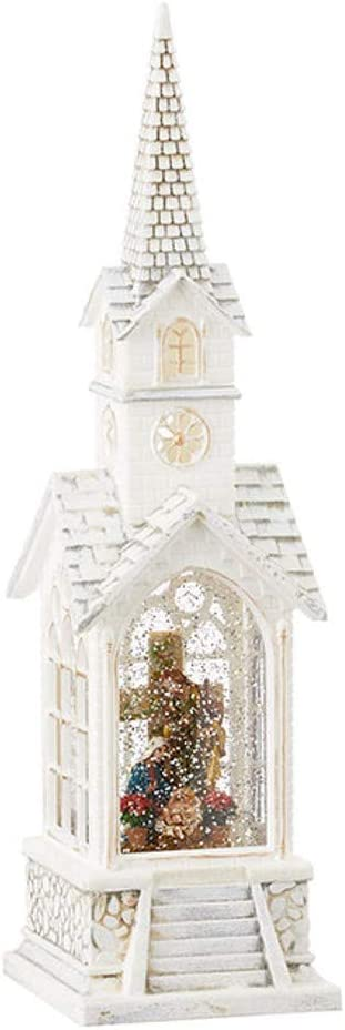 Raz 4000771 Holy Family Church Musical Lighted Water Globe Multicolor 15.5 inches