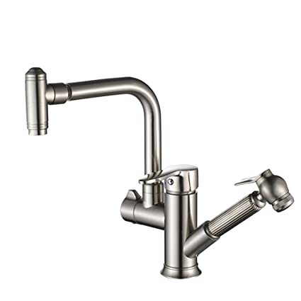 Amazon Com Tianch Pull Type Hot And Cold Water Faucet Kitchen Sink