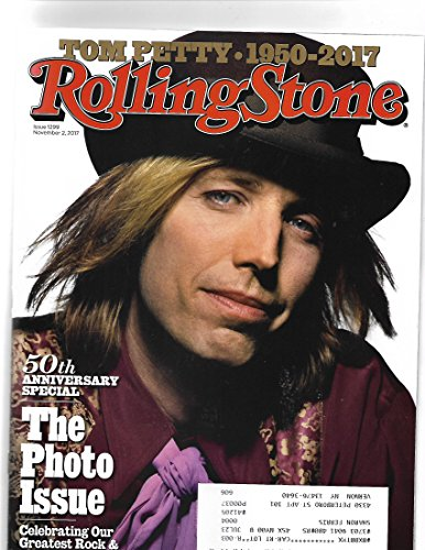 Rolling Stone Magazine November 2 2017 Tom Petty Cover/postal address label on front} {50th Anniv. photo shoot Issue} (Front Magazine Cover)