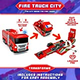 Big Mos Toys Firetruck Playset - Fire Truck and Playset with Cars All in One - Ideal for Kids Gifts