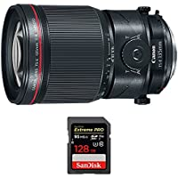 Canon (2275C002) 135mm f/4L Fixed Prime MACRO Digital SLR Camera Lens w/ Sandisk Extreme PRO SDXC 128GB UHS-1 Memory Card