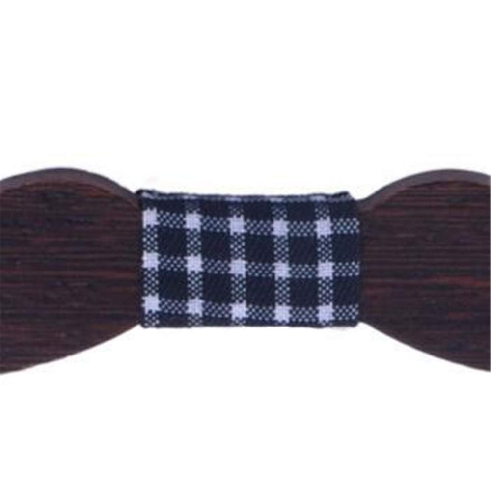 Dig Dog Bone Natural Wood Beard Led Solid Wood Tie Contracted Business Bow Tie Mens and Womens