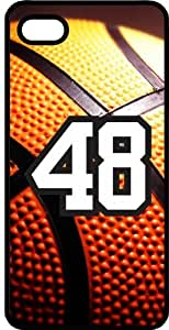 Basketball Sports Fan Player Number 48 Black Plastic Decorative iPhone 5c Case by lolosakes