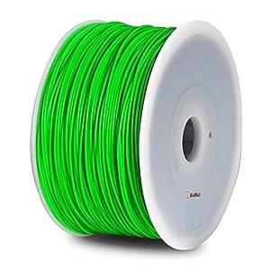 BuMat PLAFG-E Elite PLA Filament 1.75mm 1kg 2.2lb Printing Material Supply Spool for 3D Printer, Fluorescent Green