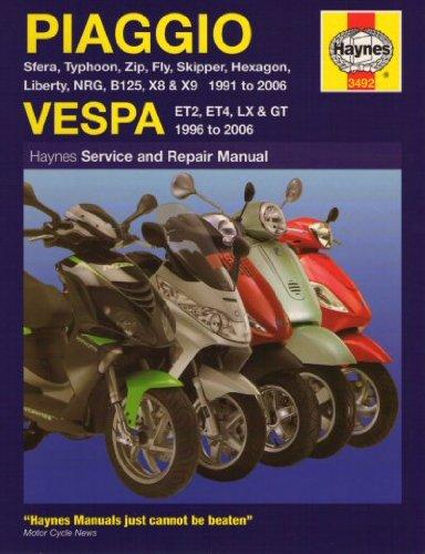 Jaguar Power Sports Piaggio U0026 Vespa Haynes Repair Manual