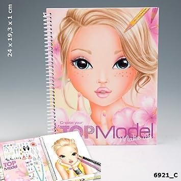 Topmodel Malbuch Create Your Topmodel Make Up Mit Sticker Und Malvorlagen Auflage C