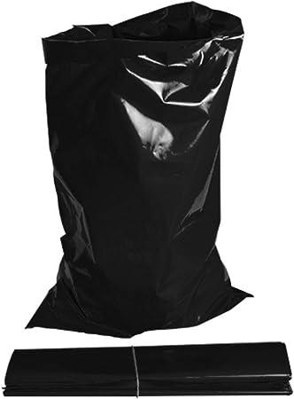 Rubble Sacks 100 X Extra Heavy Duty Black Rubble Bags Sacks Builders 20kg Amazon Co Uk Kitchen Home