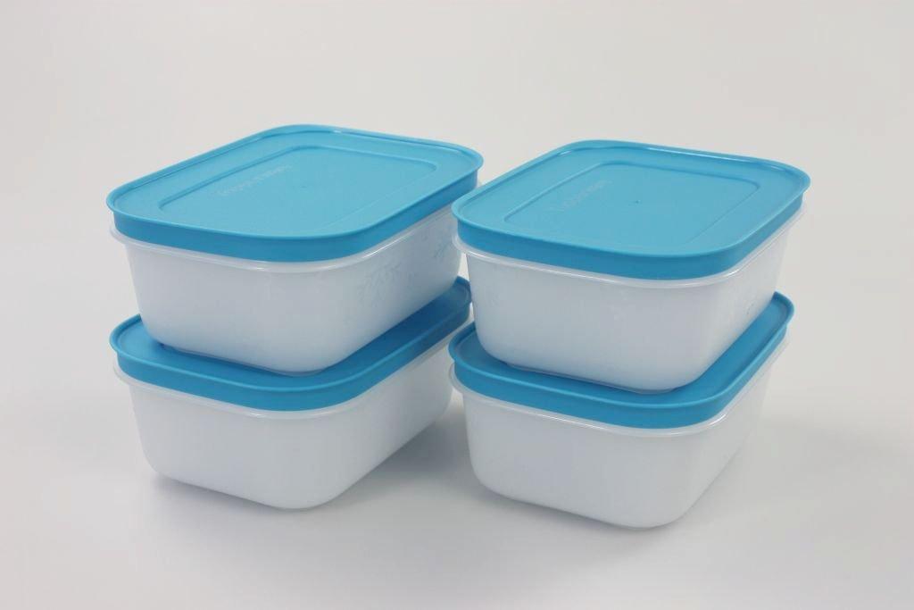 Tupperware Congelador 450 ml Blanco de azul (4) de cristal de ...