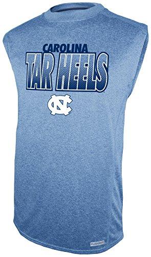 Carolina Mens Sleeveless (NCAA North Carolina Tar Heels Sleeveless Impact Tee, Navy,)